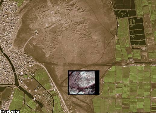 Sejarah Tersembunyi: Gambar Kota Tanis menunjukkan perbedaan antara apa yang dapat dilihat dengan mata telanjang dan rincian bangunan bawah tanah yang diambil oleh kamera satelit terteknologi tinggi