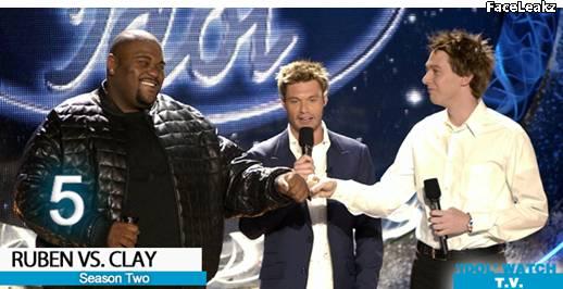 Ruben Studdard dan Clay Aiken - American Idol