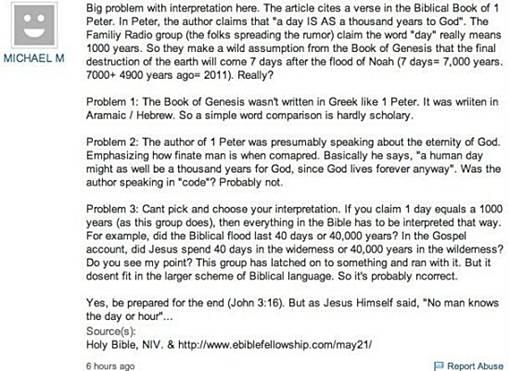 Alasan Kenapa Kiamat 21 Mei 2011 TIDAK Akan Terjadi - yahoo answer menjawabnya tidak