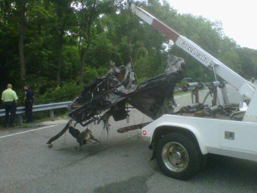 Jackass Star Ryan Dunn's Car Photo After Death In Crash -- Photo -- FaceLeakz